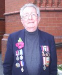 Alan at a recent remembrance service