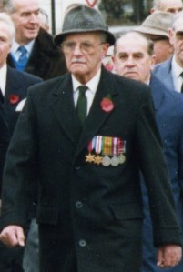 Arthur at a remembrance day service