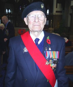 Bill at a recent remembrance service