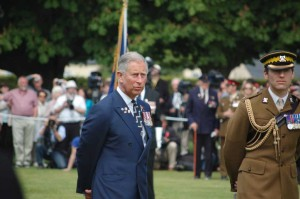 Prince Charles at Bayeaux