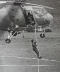 John undertaking helicopter training
