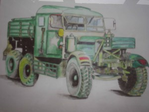 A drawing of Jack's truck