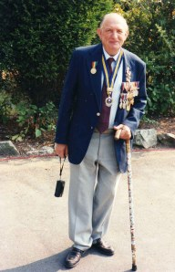 John with medals, 2000
