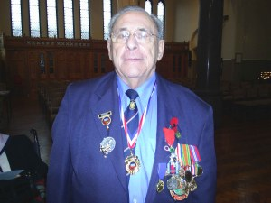 Percy at a recent Remembrance service