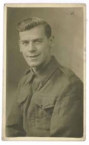 John in uniform, 1942